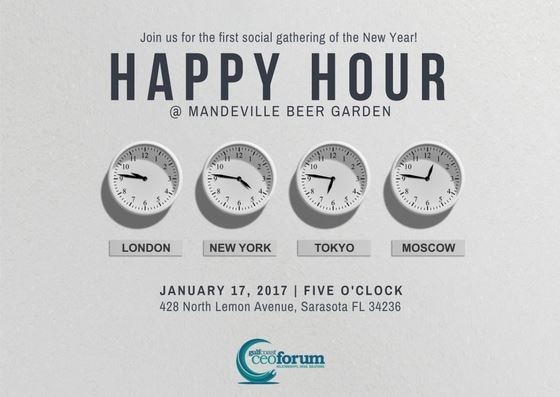 when the clock strikes happy hour on january 17th join us for craft beer and great company at mandeville beer garden - Mandeville Beer Garden